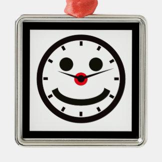 Ornamento De Metal Tempo de cara feliz - cronometrado