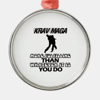 Ornamento De Metal Tendendo o DESIGN de Krav Maga