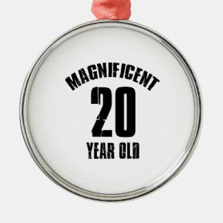 Ornamento De Metal TENDENDO o DESIGN do ANIVERSÁRIO das pessoas de 20