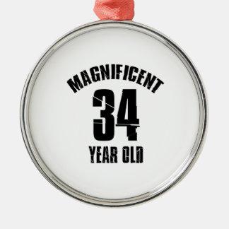 Ornamento De Metal TENDENDO o DESIGN do ANIVERSÁRIO das pessoas de 34