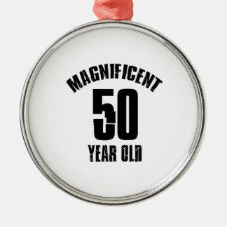 Ornamento De Metal TENDENDO o DESIGN do ANIVERSÁRIO das pessoas de 50