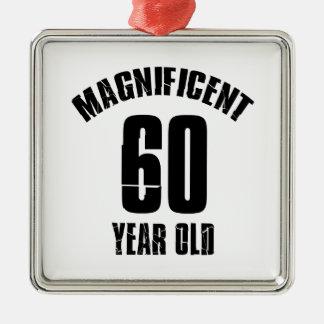 Ornamento De Metal TENDENDO o DESIGN do ANIVERSÁRIO das pessoas de 60