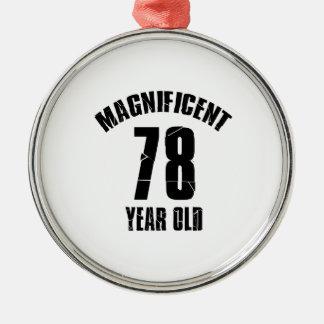 Ornamento De Metal TENDENDO o DESIGN do ANIVERSÁRIO das pessoas de 78