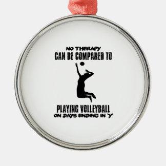 Ornamento De Metal Tendendo o design do voleibol