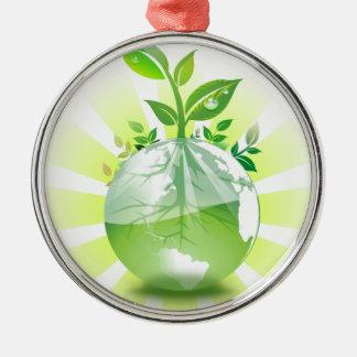 Ornamento De Metal Terra verde