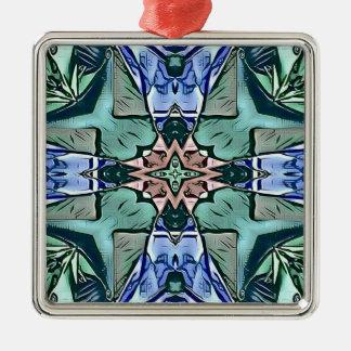 Ornamento De Metal Teste padrão artístico do pêssego moderno do Lilac