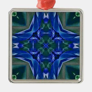 Ornamento De Metal Teste padrão bonito da forma da cruz dos azuis