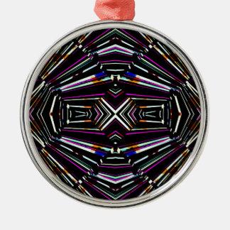 Ornamento De Metal Teste padrão corajoso afiado étnico escuro