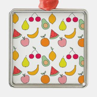 Ornamento De Metal teste padrão da fruta