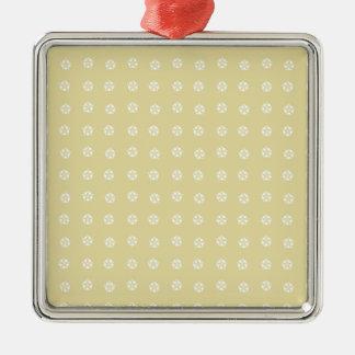 Ornamento De Metal Teste padrão de flor do limão