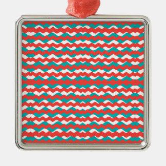 Ornamento De Metal Teste padrão de ondas geométrico