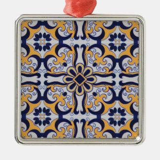 Ornamento De Metal Teste padrão do azulejo do português