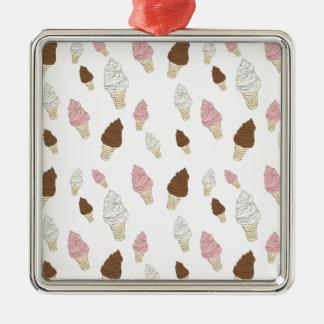 Ornamento De Metal Teste padrão do cone do sorvete