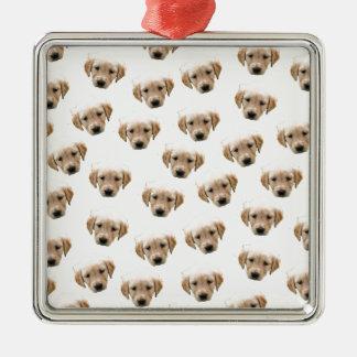 Ornamento De Metal teste padrão do filhote de cachorro