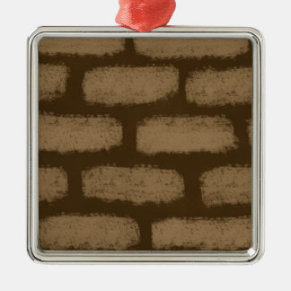Ornamento De Metal Teste padrão dos tijolos de Brown