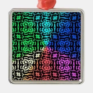 Ornamento De Metal Teste padrão e formas coloridos rústicos