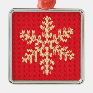 Ornamento De Metal Teste padrão feito malha do floco de neve