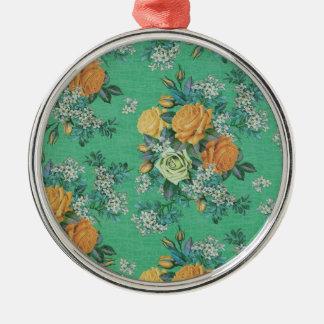 Ornamento De Metal teste padrão floral do tema das flores elegantes