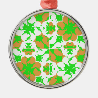 Ornamento De Metal Teste padrão floral gráfico