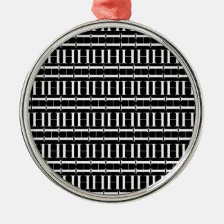 Ornamento De Metal Teste padrão inicial do monograma, letra H no