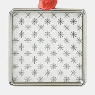 Ornamento De Metal Teste padrão original do floco de neve