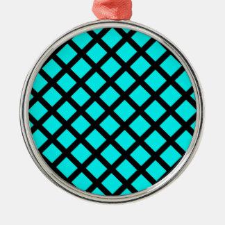 Ornamento De Metal Teste padrão preto do Aqua