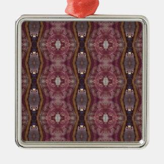 Ornamento De Metal Teste padrão tribal moderno do rosa chique de