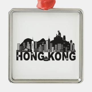 Ornamento De Metal Texto da estátua de Buddha da skyline de Hong Kong