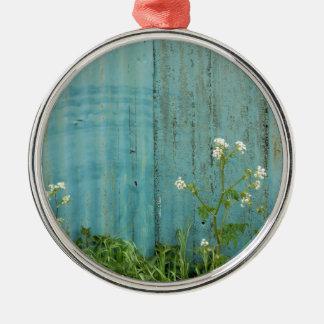 Ornamento De Metal textura azul da cerca da pintura da natureza das