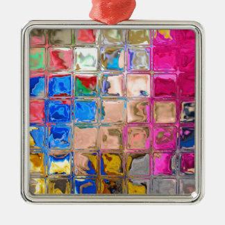 Ornamento De Metal Textura colorida dos blocos de vidro