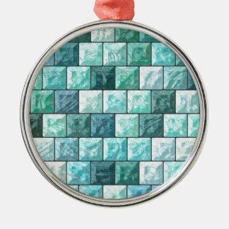 Ornamento De Metal Textura dos blocos de vidro