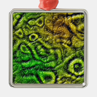 Ornamento De Metal Textura verde da pele