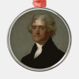 Ornamento De Metal Thomas Jefferson