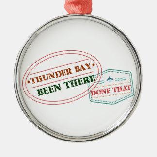 Ornamento De Metal Thunder Bay feito lá isso
