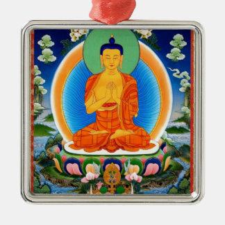 Ornamento De Metal Tibetano Thangka Prabhutaratna Buddha