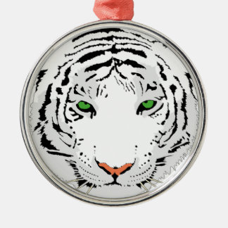 Ornamento De Metal Tigre feito sob encomenda personalizado da neve