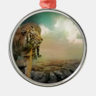 Ornamento De Metal Tigre grande