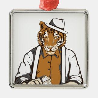 Ornamento De Metal tigre humano com cartões de jogo