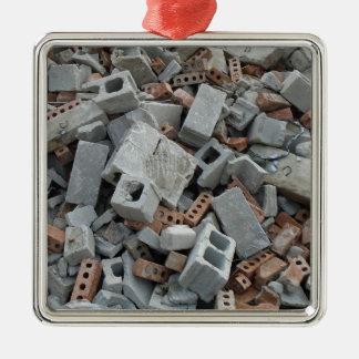 Ornamento De Metal Tijolos & restos da entulho da demolição dos