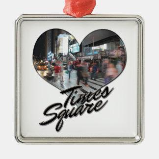 Ornamento De Metal Times Square da lembrança da skyline da Nova