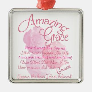 Ornamento De Metal Tipografia bonita do rosa do rosa da benevolência