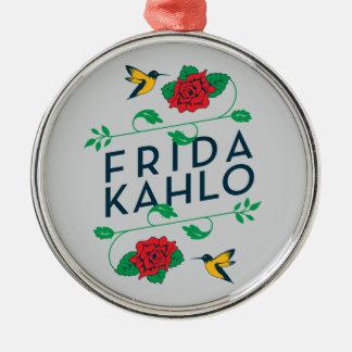 Ornamento De Metal Tipografia floral de Frida Kahlo |