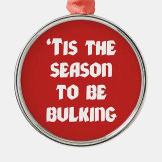 Ornamento De Metal Tis a estação a aumentar - Natal engraçado