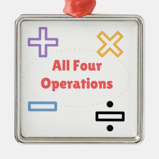 Ornamento De Metal Todas as quatro operações