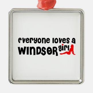 Ornamento De Metal Todos ama uma menina de Windsor