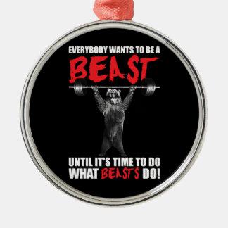 Ornamento De Metal Todos quer ser um animal - levantamento do urso -