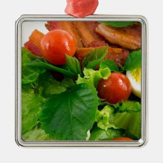 Ornamento De Metal Tomates de cereja, ervas, azeite, ovos e bacon