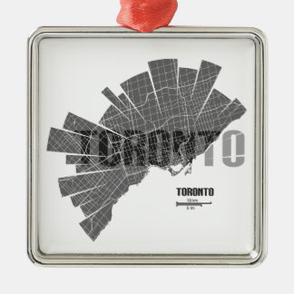 Ornamento De Metal Toronto_Map