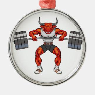 Ornamento De Metal touro 2 do levantamento de peso
