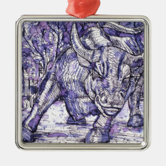 Ornamento De Metal touro de Wall Street
